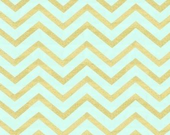Sleek Chevron Pearl Mist fabric MC631   Cotton Quilting fabric   Michael Miller