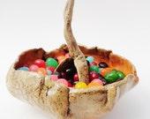 Pottery Scoop, Rustic Primitive Spoon, Ceramic,  Hobbitware, Random Chunky Serving Shovel