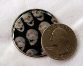 A Buncha Skulls Photo Art Cabochon Goth Horror Resin And Vintage Watch Back Cabochons Jewelry Making Phone Case Bow Center Decoden  A2