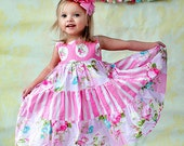 Pink Dress - Summer Dress - Girls Pink Dress