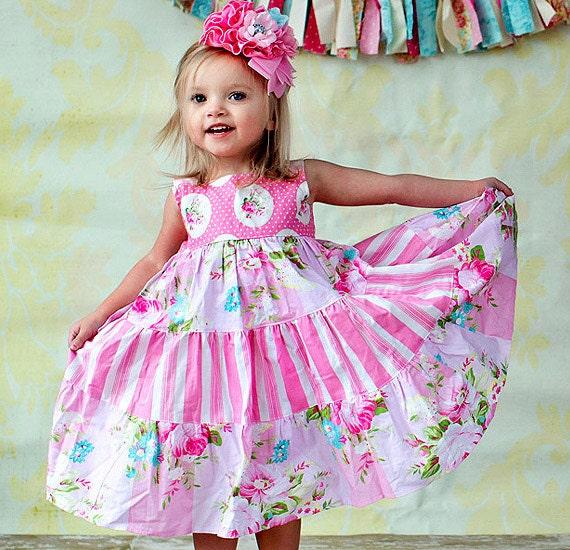 Pink Dress - Summer Dress - Girls Pink Dress