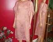 Pale Pink Caftan style Kimono Flapper Dress Oversize Tunic Handmade
