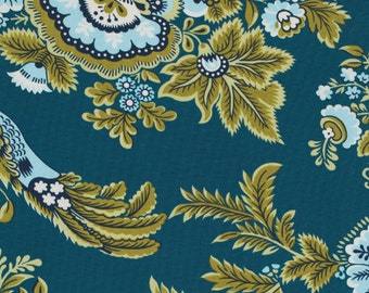 Amy Butler, Belle - Royal Garden in Turquoise / PWAB108 100% Quilters Cotton Available in Fat Quarter, Half Yard, Yard