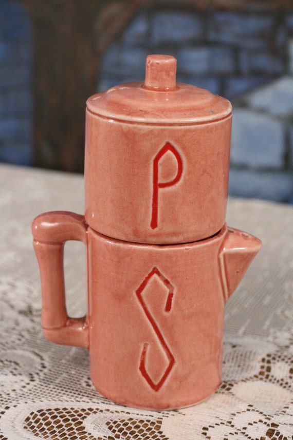 Coffee Pot Salt Pepper Shakers Cute Japan Kitsch Perkolater