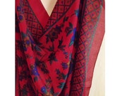 Extra large and cozy vintage scarf