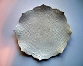 Lotus Flower Appetizer Plate or Hors D'oerves Plate