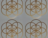 Seed of life sacred geometry copper SET of 4 vinyl decals