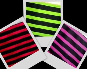 Green Red Pink Black Stripe Twill Fabric BTY