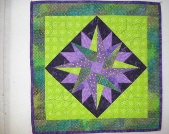Miniature quilt, table topper, or wall hanging