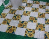 Scrappy  Sunflowers Mini Quilt or Table Mat