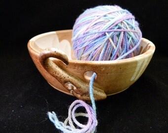 WheelWorksPottery - Yarn Bowl - Dual Function - Nutmeg Ice