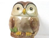 Vingage owl sugar bowl