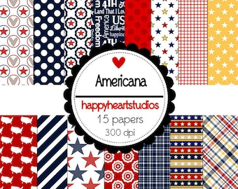 Digital Scrapbooking Americana -INSTANT DOWNLOAD