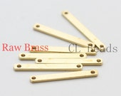 80pcs Raw Brass Link - Tag - Bar 18.5x2mm (1800C-U-59)