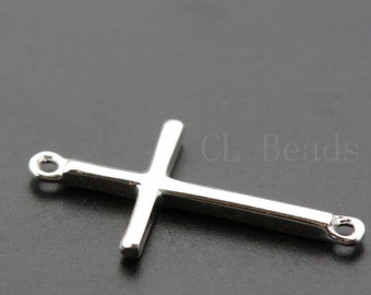 One Piece Sterling Silver Cross Links - 18x9mm