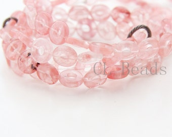 15 inch Full Strand Cherry Quartz Beads- Donut 10mm (192)