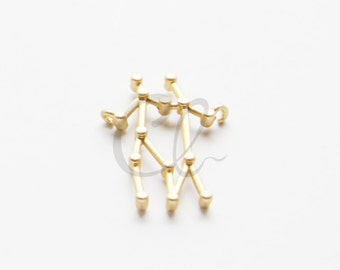 2pcs Premium Matte Gold Plated Brass Base Charms-Zodiac-Gemini 23.6x16.7mm (1154C-U-179)