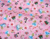 "Alice in Wonderland Fabric Half meter 50  cm x 108 cm or 19.6"" by 42"""