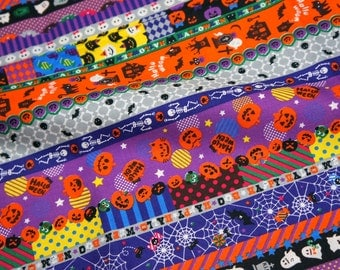 Halloween fabric Half meter 50 cm by 106 cm or 19.6 inch by 42 inch nc21