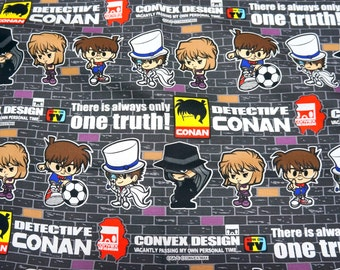 Japanese Anime  Fabric Detective Conan fat quarter nc55