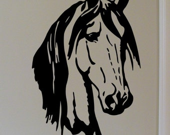 Horse Head Premium Vinyl Wall Graphic