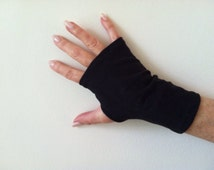 Fingerless Gloves. SPF 50 Cotton Stretch. One Size Fits All.
