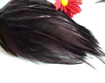 FEATHER PADS / Dark chocolate BROWN /  91