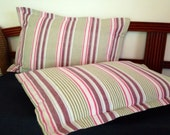 Striped pillow case  cushion decorative cover set of 2