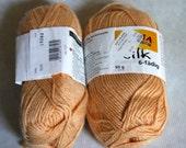 Destash - Regia Silk 6 ply Yarn-2 skeins