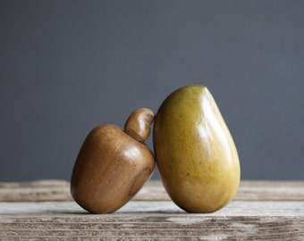 Mid Century Wooden Fruit | Modern Minimalism | Table Decor | Tropical Mango | Cashew Apple | Fall Decor | Autumn Accent