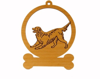 Golden Retriever Wagging Ornament 083263 Personalized With Your Dog's Name