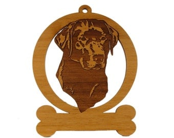 Labrador Head 2 Ornament 083481 Personalized With Your Dog's Name