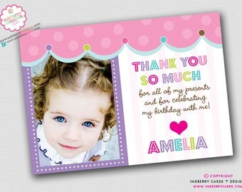 Simply Sweet Photo Thank You Note (Digital File OR Cardstock Printed Cards Also Available)
