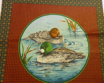 Duck & Pheasant  Fabric for Pillow or Quilt