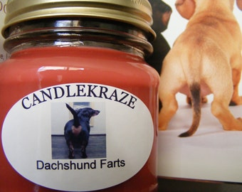 Dachshund Farts- 8oz Mason Jar Candle