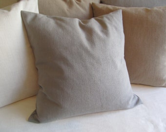 EURO COVER 26x26 GRAY Large Pillow Cover