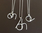 two initial necklace . two letter necklace . double initial necklace . large letters necklace . personalized necklace . mom necklace  SILVER