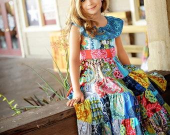 Little Gypsy Queen PDF pattern, sizes 2T through size 10