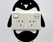 Penguin Wall Sticker for Powerpoints and Light switches