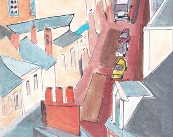 Thouars - France - de la Tremoille street