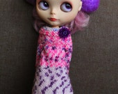 blythechic  knit dress with extra long sleeves
