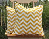 Corn Yellow Chevron Pillow Cover