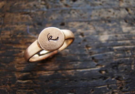 Personalized ring initial ring personalized pinky ring