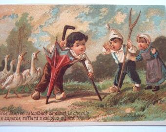 French Antique Illustration Paper Ephemera Scrapbooking Supplies Paper Party Supplies Children Mixed Media Paper Craft Junk Journal