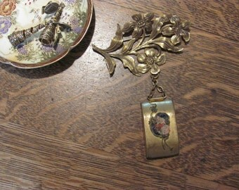 Wow...Lowered Price..Antique Floral Brooch Pin