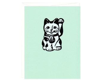 Maneki Neko -- Set of Six Cards