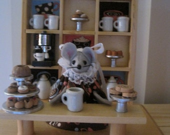 Felt Mouse in a Coffee Shop