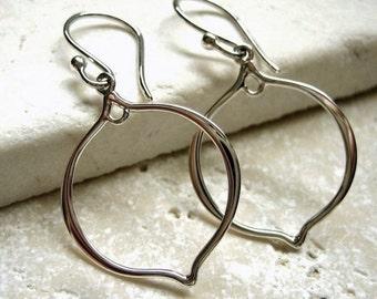 Sterling Silver Earrings Arabesque Earwires - Pair