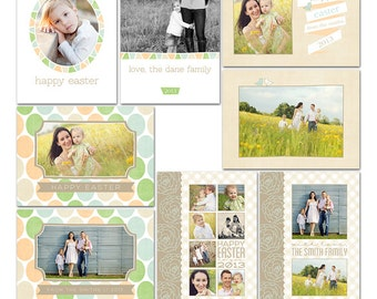 Easter Sweet Card Collection for any Occasion - 8 Files - Photoshop Templates for Photographers - CS9002