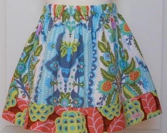 Little Girls Skirt - The Olivia Skirt in Amy Butler Cameo - available in sizes 1, 2, 3, 4, 5, 6